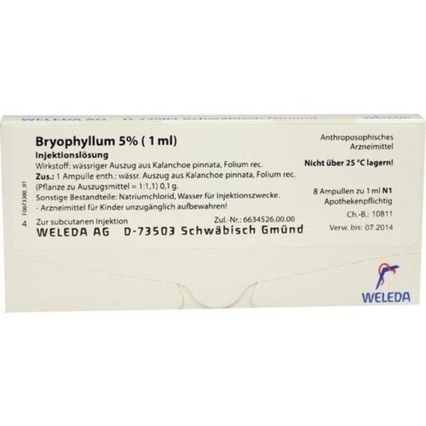 BRYOPHYLLUM 5% 1 ml Injektionslösung 8X1 ml