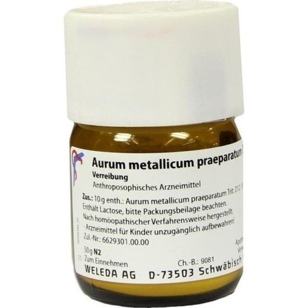 AURUM METALLICUM PRAEPARATUM D 12 Trituration 50 g
