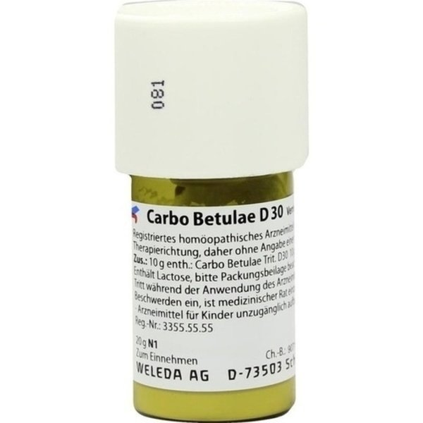 CARBO BETULAE D 30 Trituration 20 g