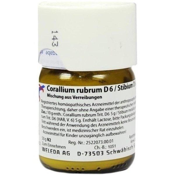 CORALLIUM RUBRUM D 6/Stibium D 6 aa 50 g