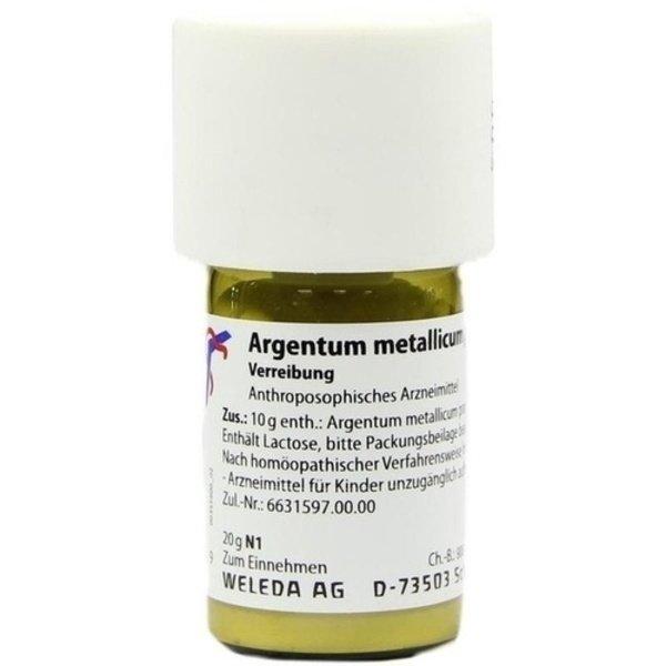 ARGENTUM METALLICUM praeparatum D 20 Trituration 20 g