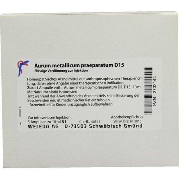 AURUM METALLICUM PRAEPARATUM D 15 Ampullen 5X10 ml