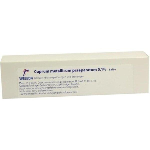 CUPRUM METALLICUM praep.0,1% Salbe 23 g