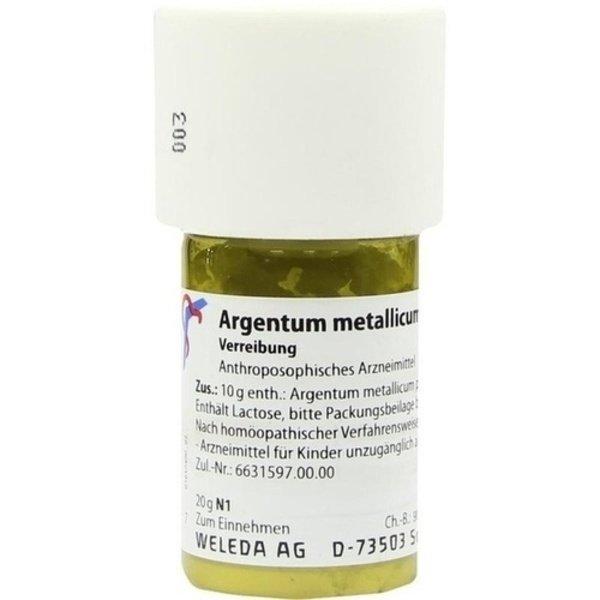 ARGENTUM METALLICUM praeparatum D 10 Trituration 20 g