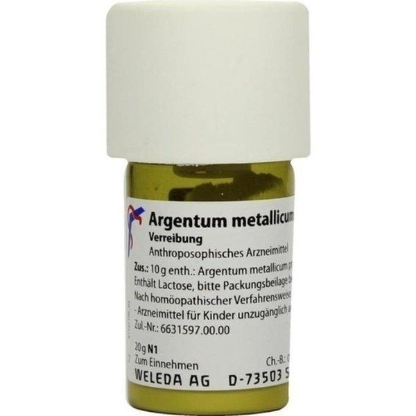 ARGENTUM METALLICUM praeparatum D 8 Trituration 20 g