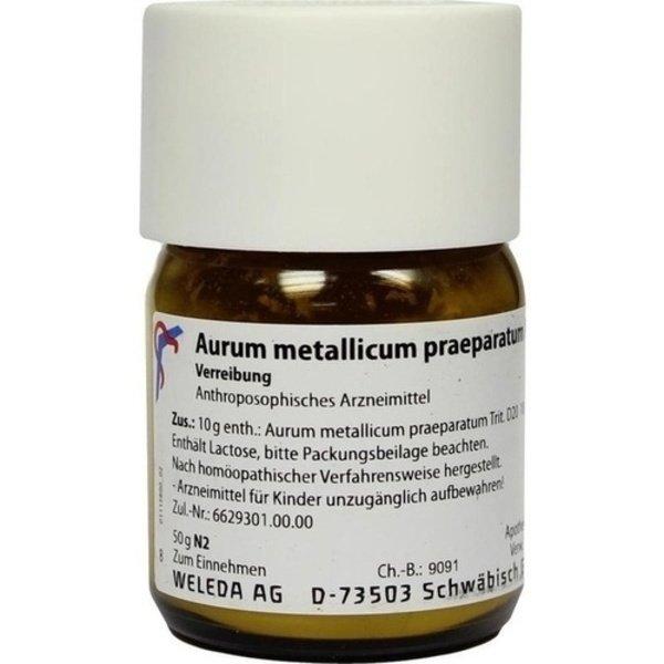 AURUM METALLICUM PRAEPARATUM D 20 Trituration 50 g