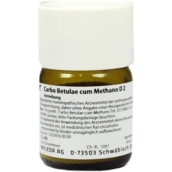 CARBO BETULAE CUM Methano D 2 Trituration 50 g