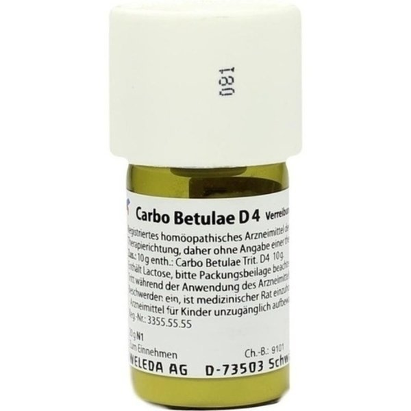 CARBO BETULAE D 4 Trituration 20 g