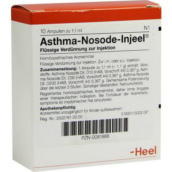 ASTHMA INJ NOS 10 ST