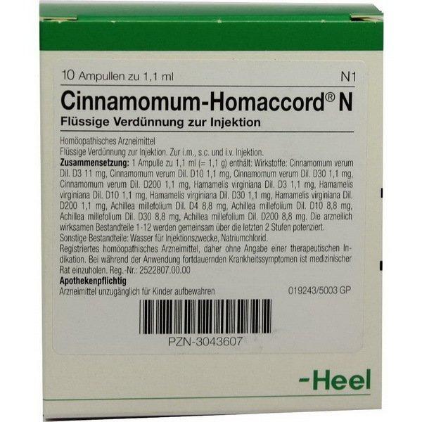 CINNAMOMUM HOMACCORD N 10 ST